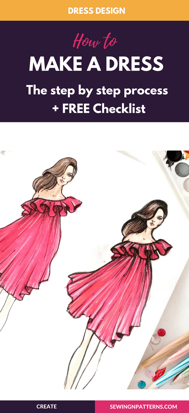 How To Start Your Journey With Dress Design Sewingnpatterns Dress Design Drawing Illustration Fashion Design Dress Design Sketches