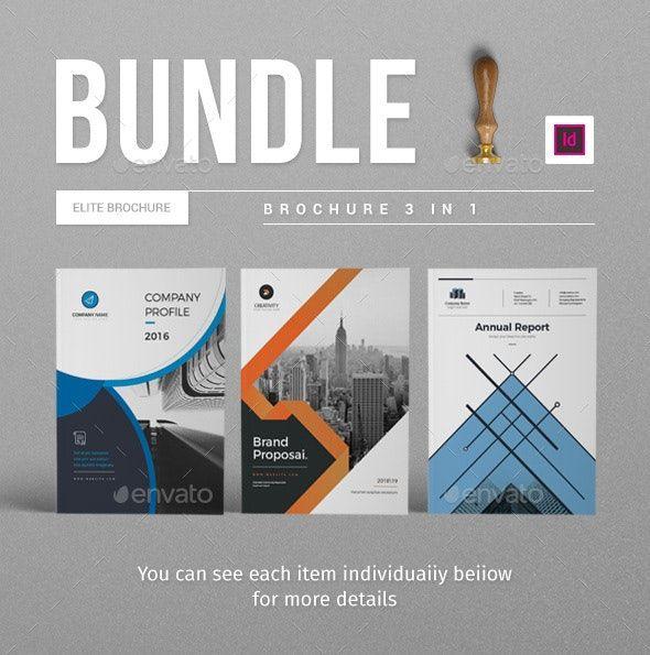 Free Indesign Bundle 10 Corporate Flyer Templates: Bundle Corporate Brochure Template By Moverick.