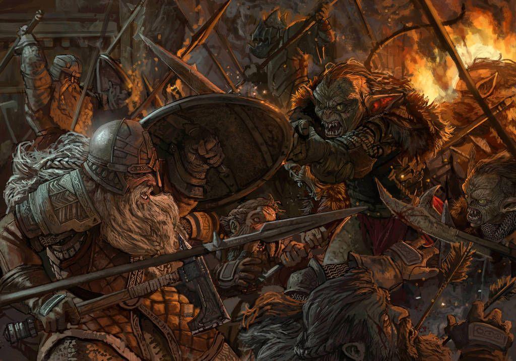 Картинки фэнтези битвы гномы