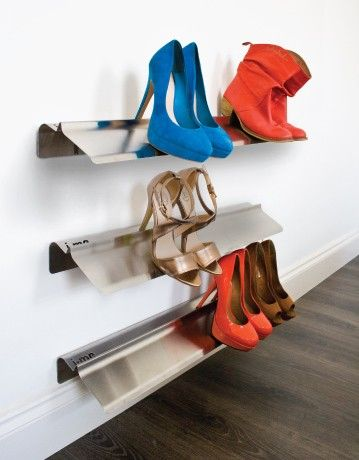 stiletto high heel shoe rack stainless