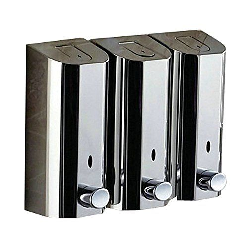 Amazon Com Angelbubbles 3 X 800ml Large Capacity Luxurious Wall Mounted Sus304 Medi Soap Dispenser Wall Kitchen Soap Dispenser Stainless Steel Soap Dispenser
