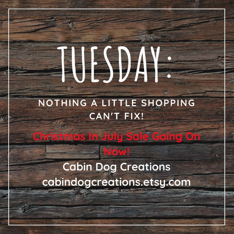 Fix the Tuesday blues with a little shopping at Cabin Dog ...