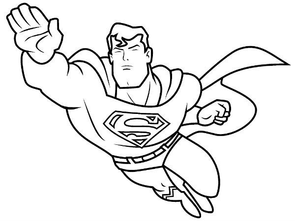 Image result for superman coloring page easy