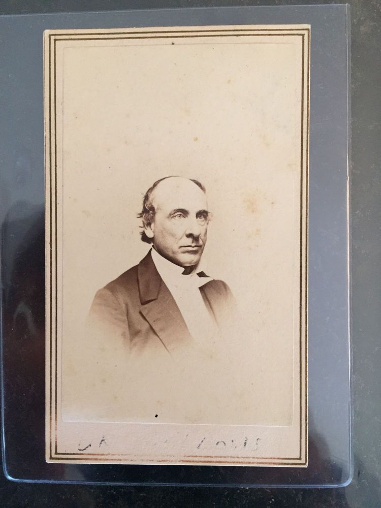 CDV PHOTOGRAPH HENRY BELLOWS PRESIDENT CIVIL WAR SANITARY COMMISSION CLERGYMAN ! in Collectibles, Photographic Images, Vintage & Antique (Pre-1940) | eBay