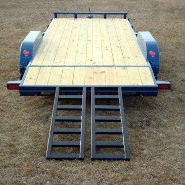 Wood Floor Car Hauler Trailer Johnson Trailer Co Car Hauler Trailer Homemade Trailer Trailer Ramps