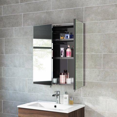 670x600mm Liberty Stainless Steel Double Door Mirror Cabinet