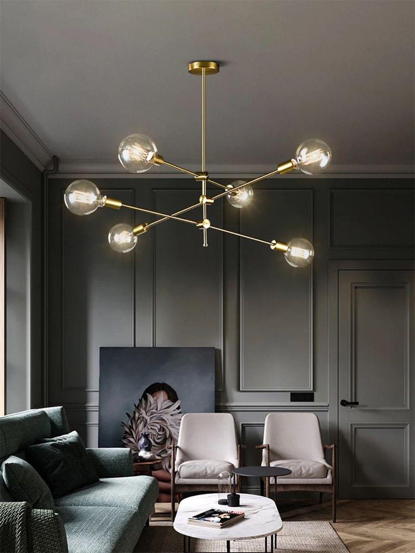 34 Admirable Mid Century Modern Living Room Decor Ideas Nunohomez Chandelier In Living Room Modern Living Room Lighting Living Room Lighting