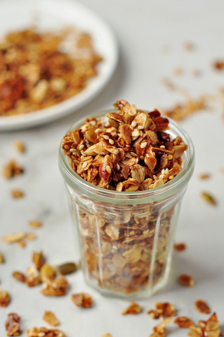 Healthier Energy Boosting Granola Recipe Food Recipes Food Eat