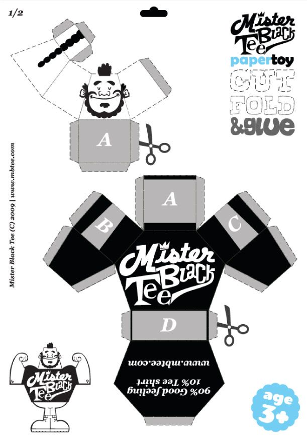 Image detail for -Blog Paper Toy papertoy MBTeee template preview Paper Toy Mister Black ...