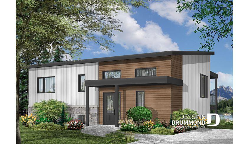 Plan de maison unifamiliale Calypso No W3991 mini maison Pinterest