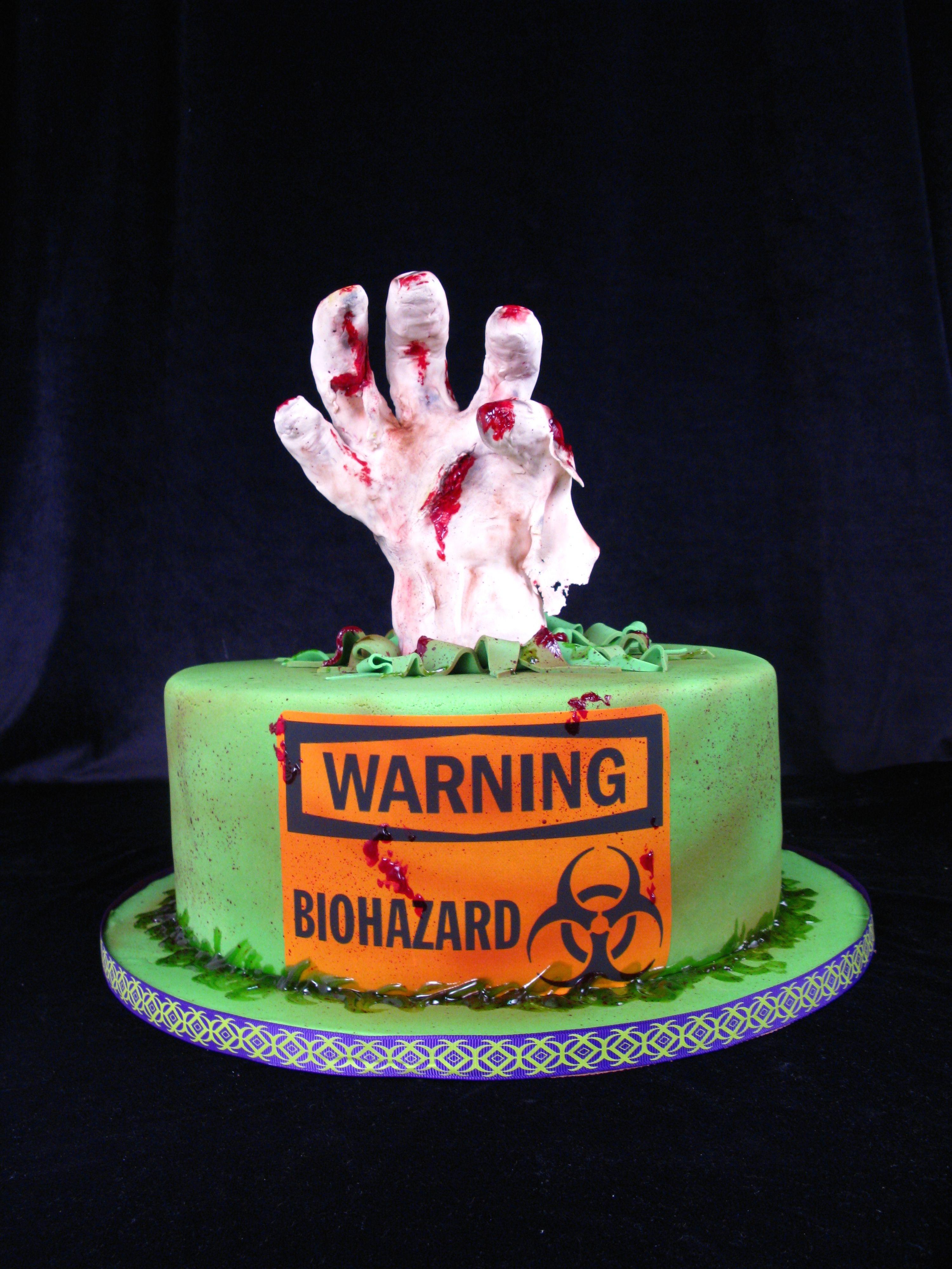 Halloween cake zombie cake mummy cake biohazard cake scary cakes