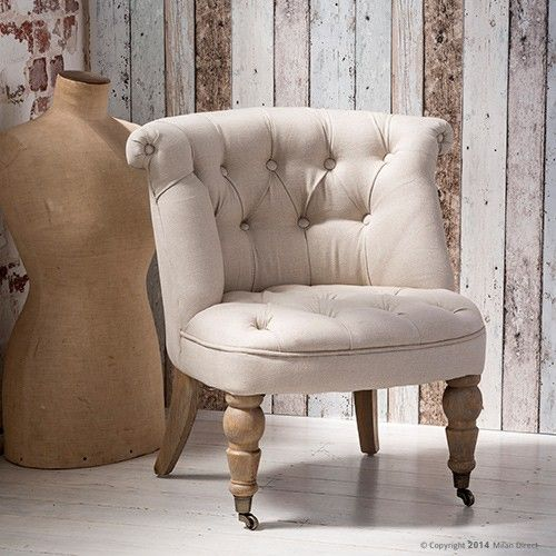 Provence Lounge Chair Ecru French Provincial Furniture