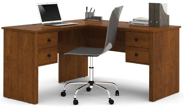 Bestar Somerville Tuscany Brown L Shaped Desk 45420 1163 L