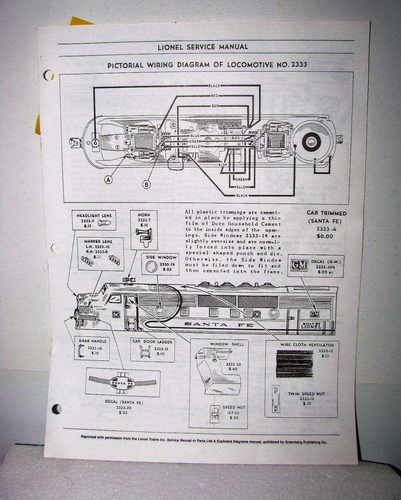 hight resolution of lionel service manual pictorial wiring diagram of toy trainlionel service manual pictorial wiring diagram of toy