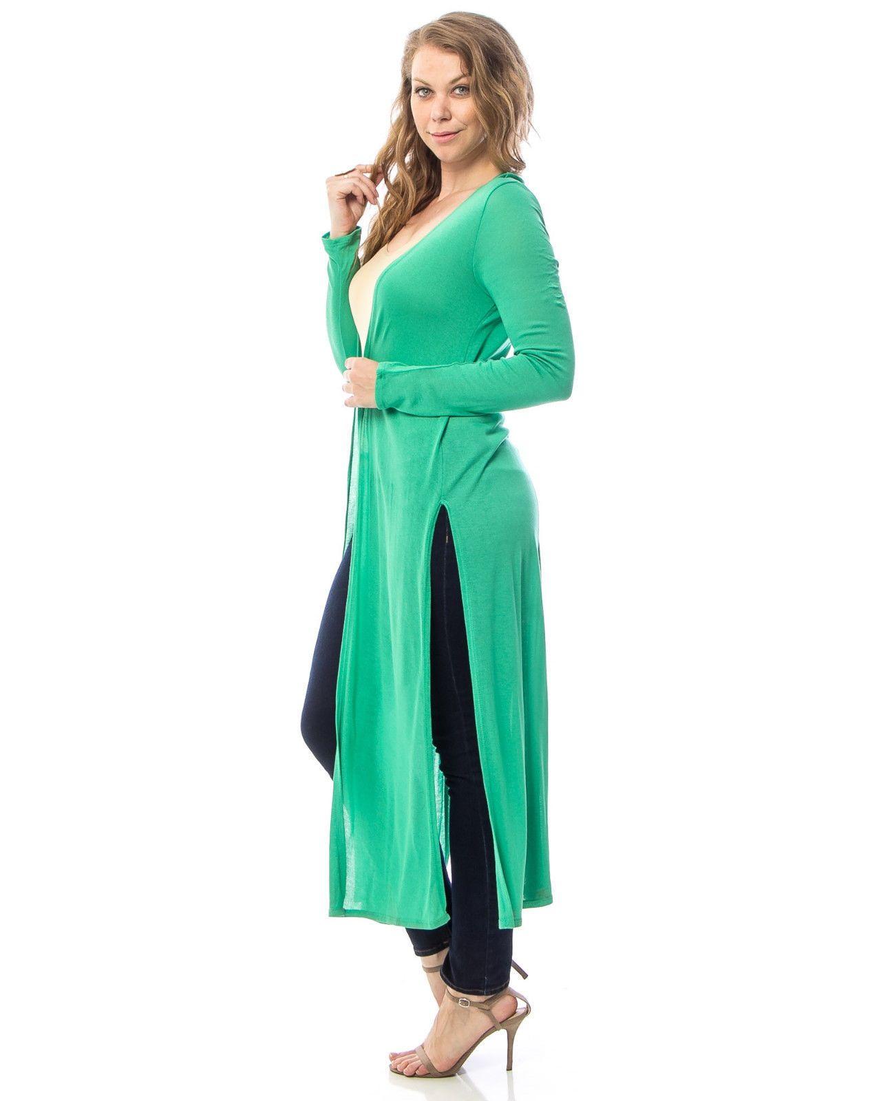 Women wrap cardigan solid green plus size xl xl xl xl calf