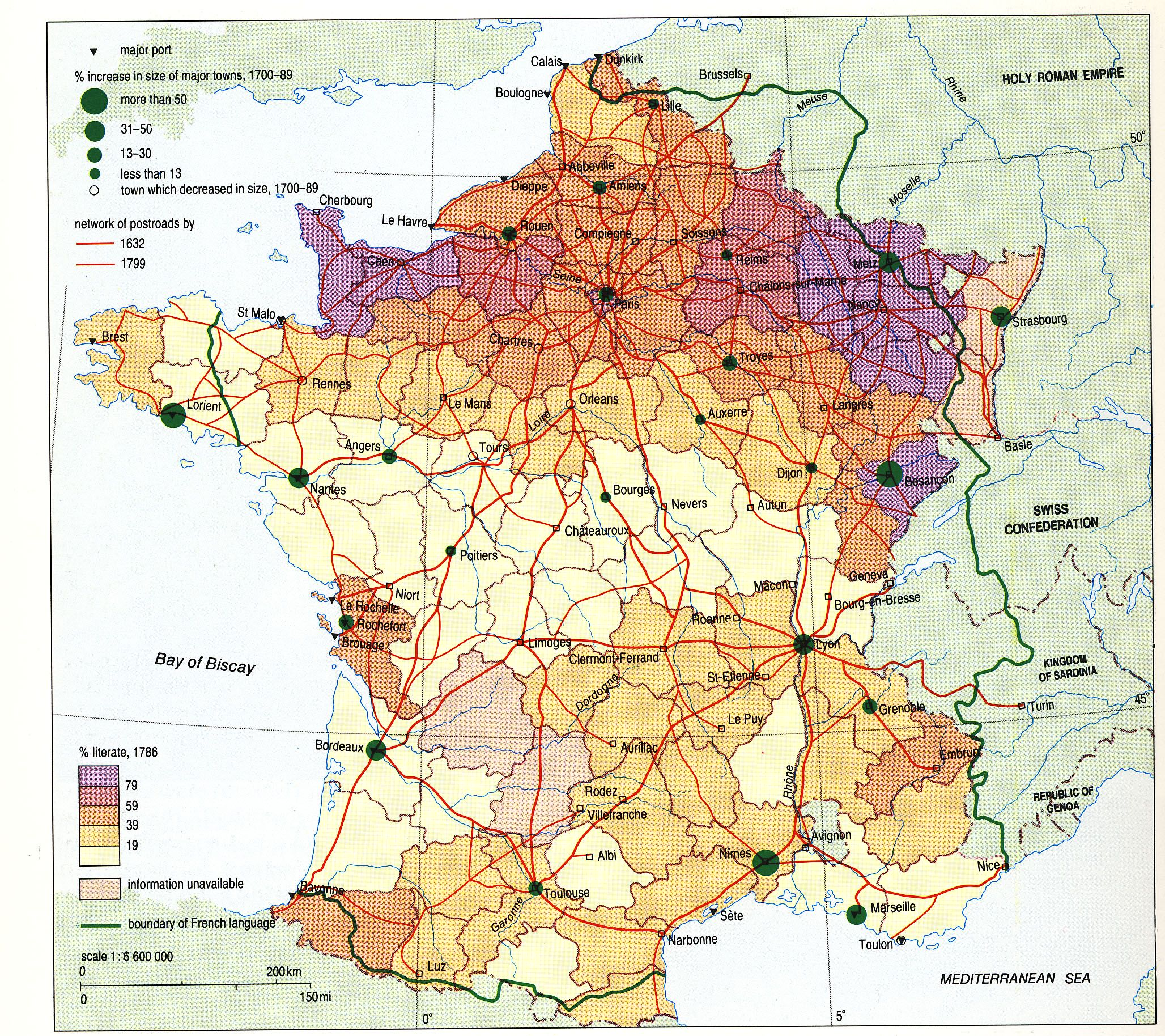 Map Of France In 1789.1789 Literacy Population Increases In France French Revolution