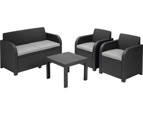 Jardin Loungeset Georgia Grijs Inclusief Kussen 4 Delig Mobeldesign Gartenmobel Sets Lounge