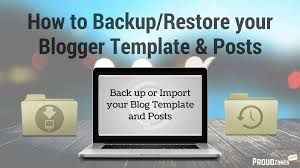 backup of blog spot steps