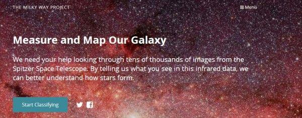Nuevo Milky Way Project, con más datos, más imágenes y más objetos que encontrar en nuestra galaxia