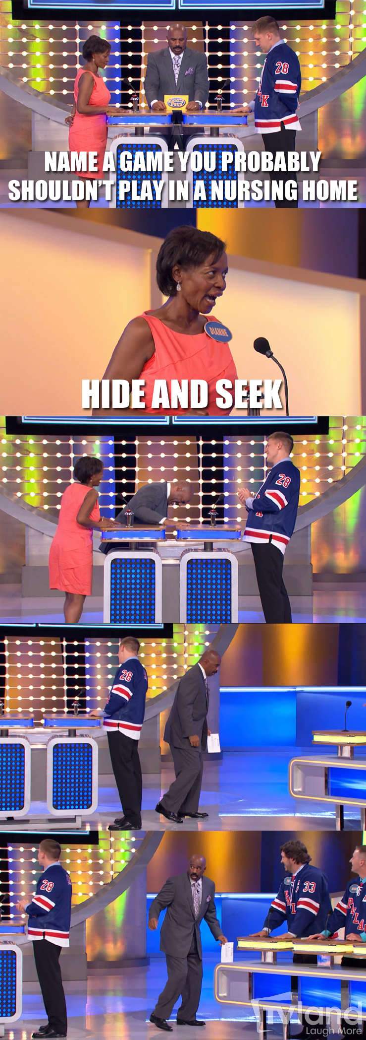 Steve Harvey manages to make the perfect answers even