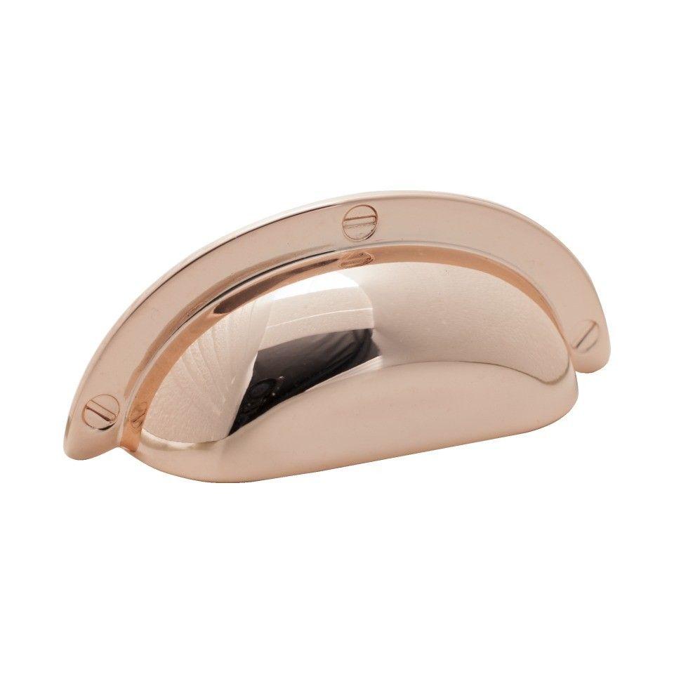 Grace Copper Cupboard Shell Handle - Polished Copper - Aspa Verkstad ...