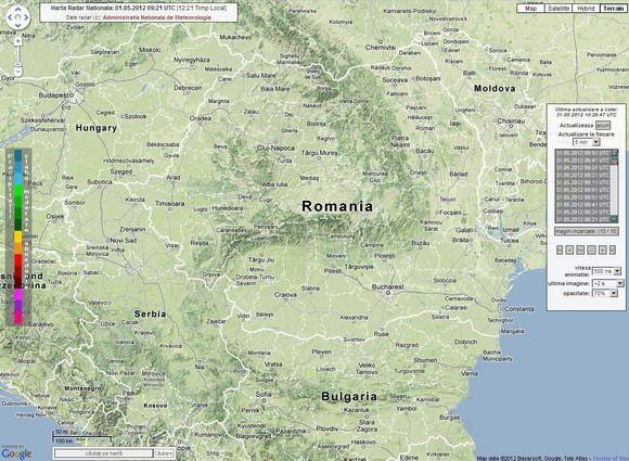 Harta Radar Meteo Romania Administraţia Naţională De