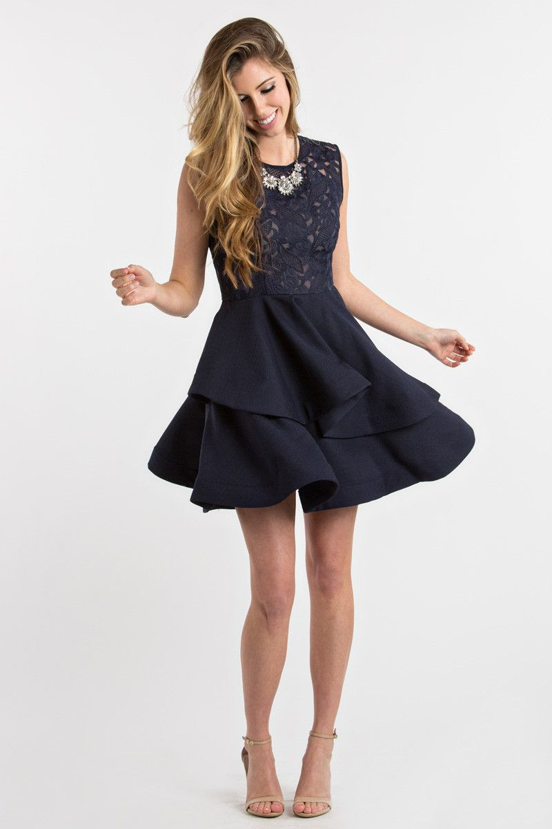 00807fc13e116 Fit And Flare Dresses, Navy Dresses, Date Night Dresses | Blue Hues ...