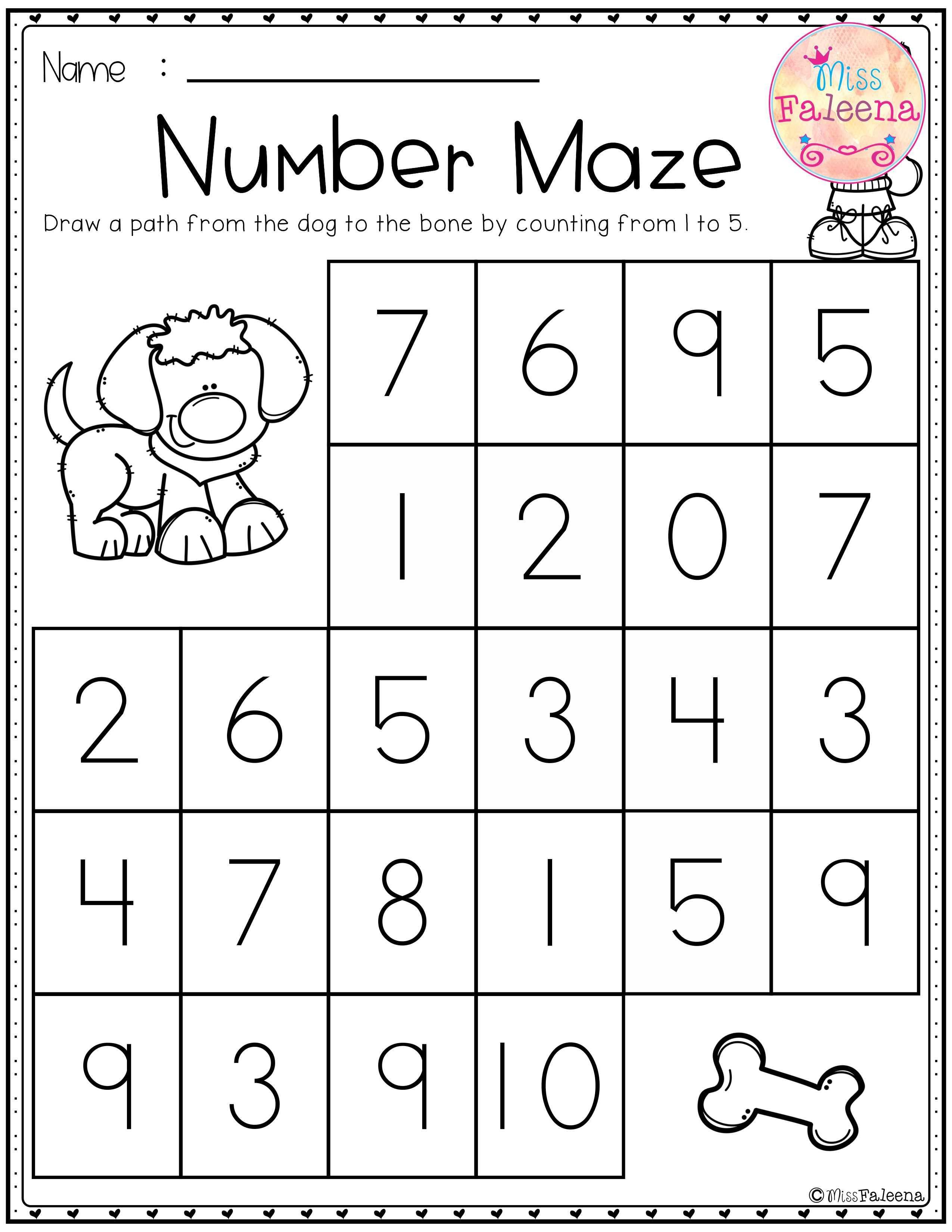 Kindergarten Math Assessment Worksheets