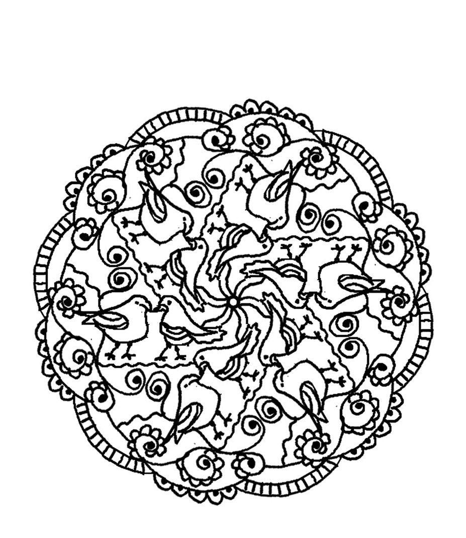 mandala coloring pages birds - photo#9