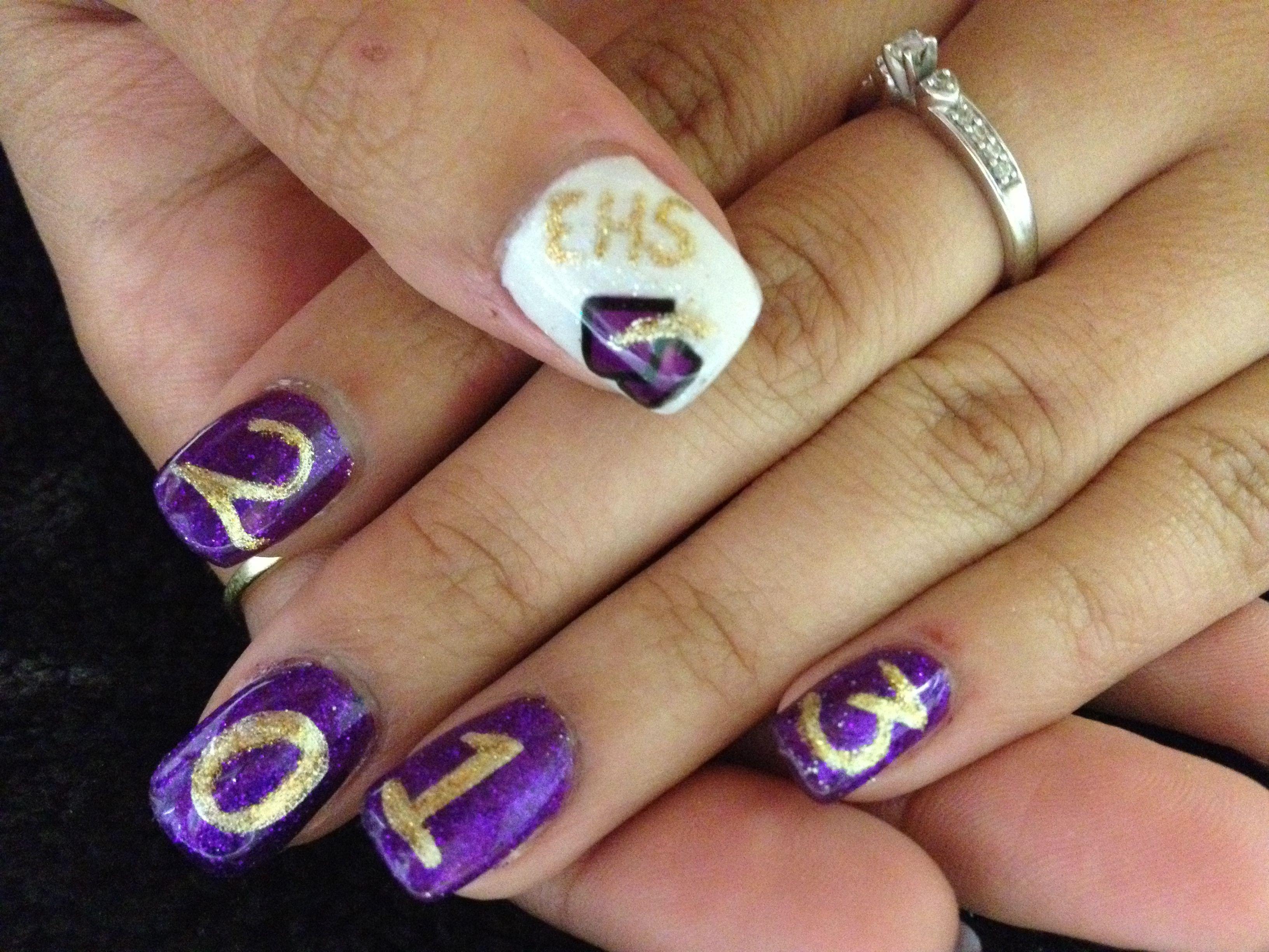 Graduation nail art Cypress Nail Studio Greenwood, SC   Nail Art ...