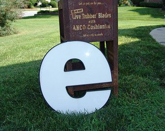 E Channel Letter Plastic Face PlateIndustrial DcorLighted Sign