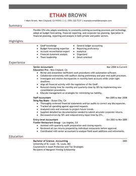 Accounting Finance Resumes My Perfect Resume Best Cv Template Resume Examples Resume Skills