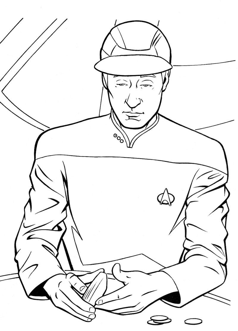 data star trek coloring page coloring pages pinterest star