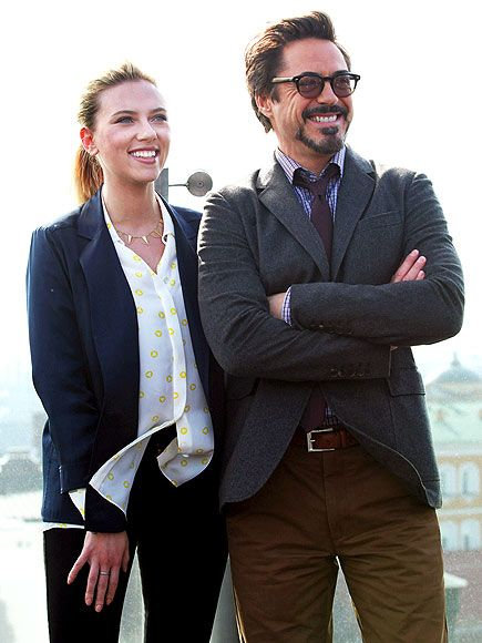Scarlett Johansson and Robert Downey Jr.