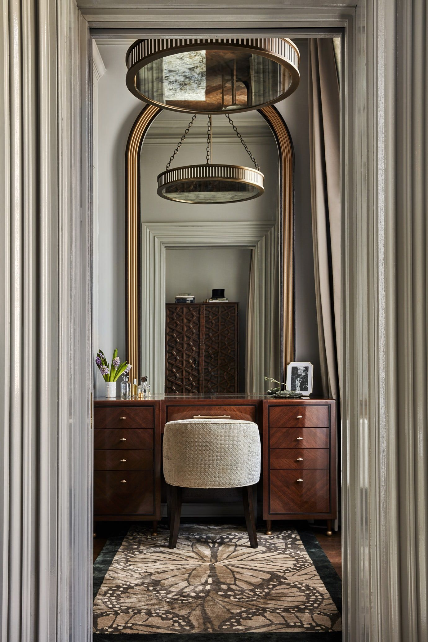 Rittenhouse Square Townhouse Vanity Bedroom Colonial Contemporary