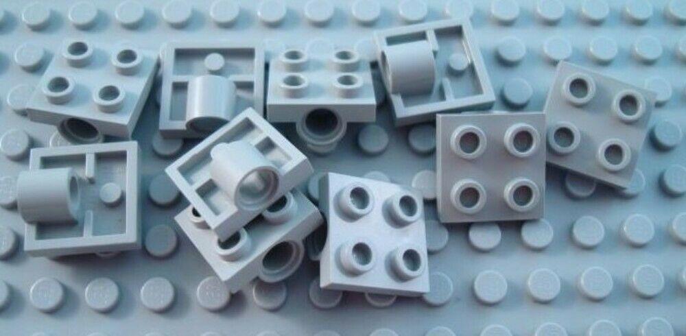 New LEGO Lot of 4 Dark Bluish Gray 1x2-2x2 Space Bracket Pieces