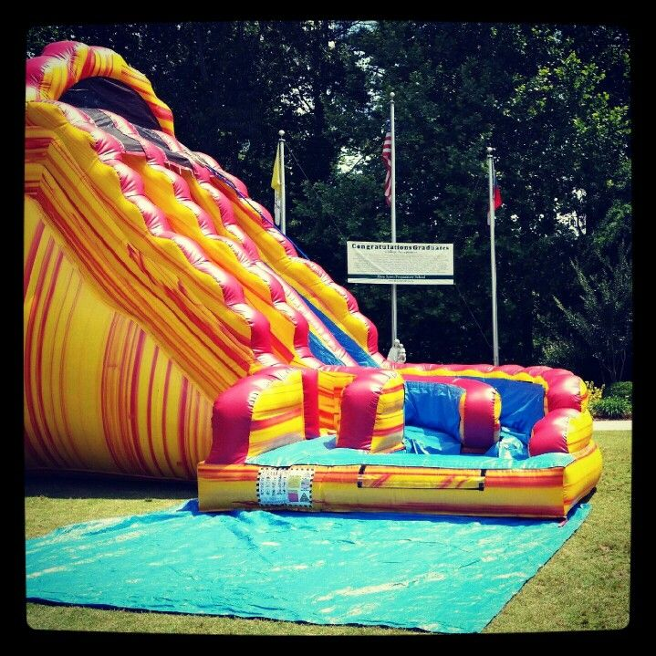 Inflatable Water Slide To Rent: 18ft Lava Rush Inflatable Waterslide. .water Slide Rentals