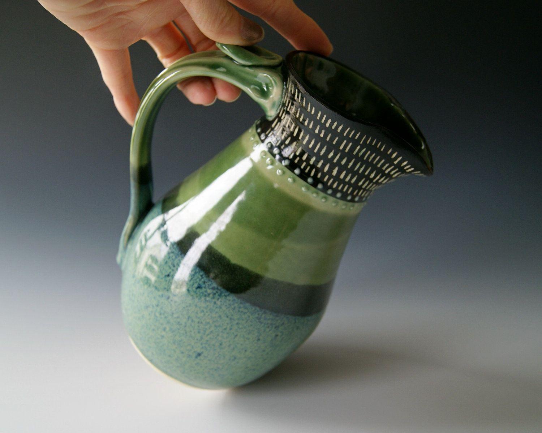 Ceramic pitcher wheel thrown pottery stoneware clay