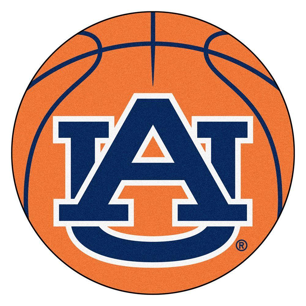 Auburn Tigers NCAA Basketball Round Floor Mat 29 AU Logo