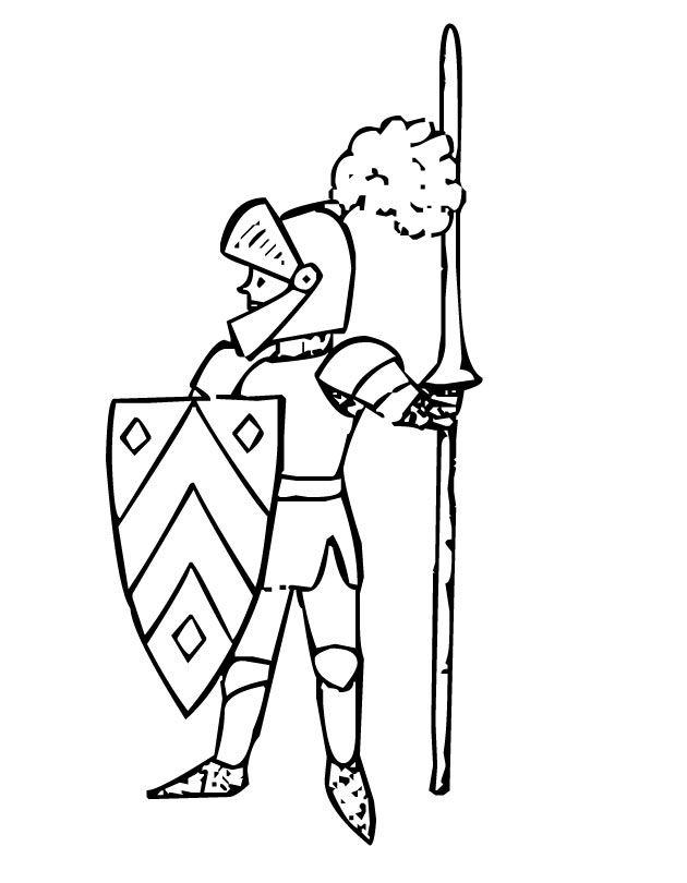 Printable Knight coloring page from FreshColoring.com ...