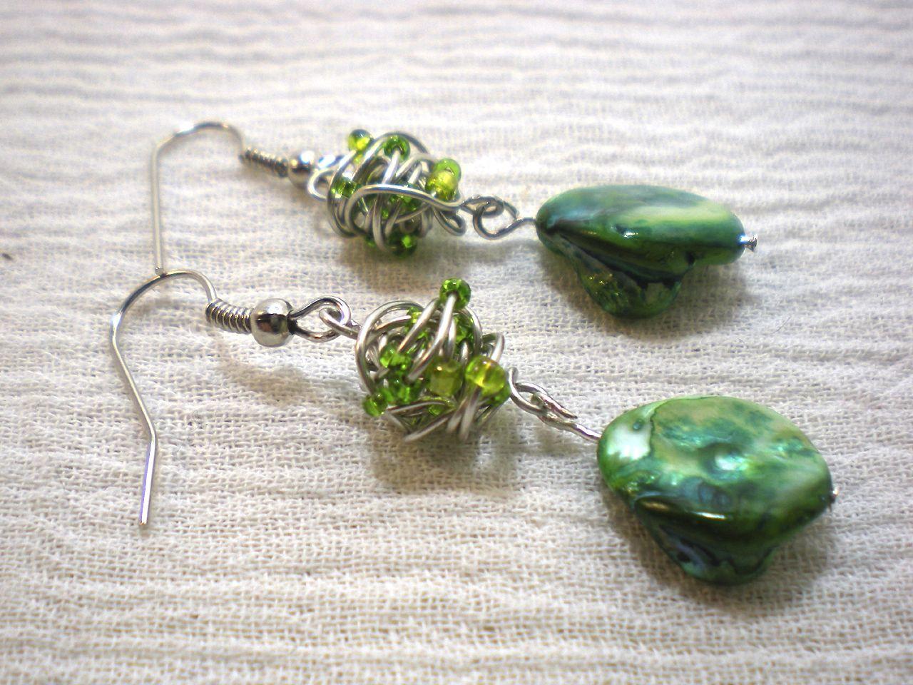 tangled-wire-bead-earrings-two-still | Jewelin\' | Pinterest | Bead ...