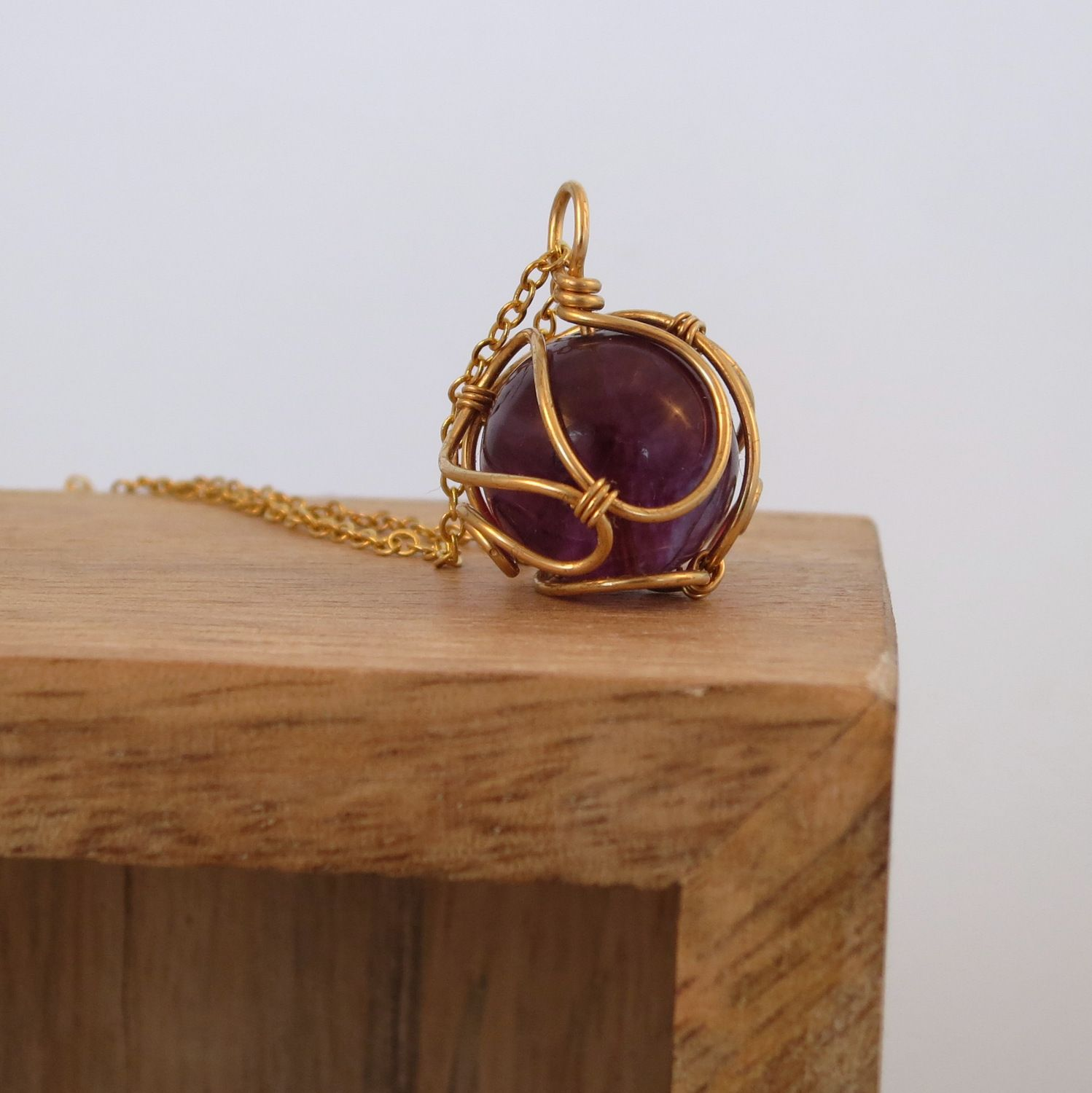 Jewelry wire cage wire center purple fluorite pendant in a brass wire cage milalika wire rh pinterest com jewelry wire gauge chart and size jewelry wire gauges keyboard keysfo Images