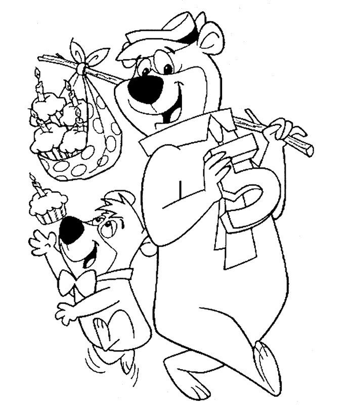 Pin By April Dikty Ordoyne On Yogi Bear And Boo Boo Bear Coloring Pages Vintage Coloring Books Coloring Pages