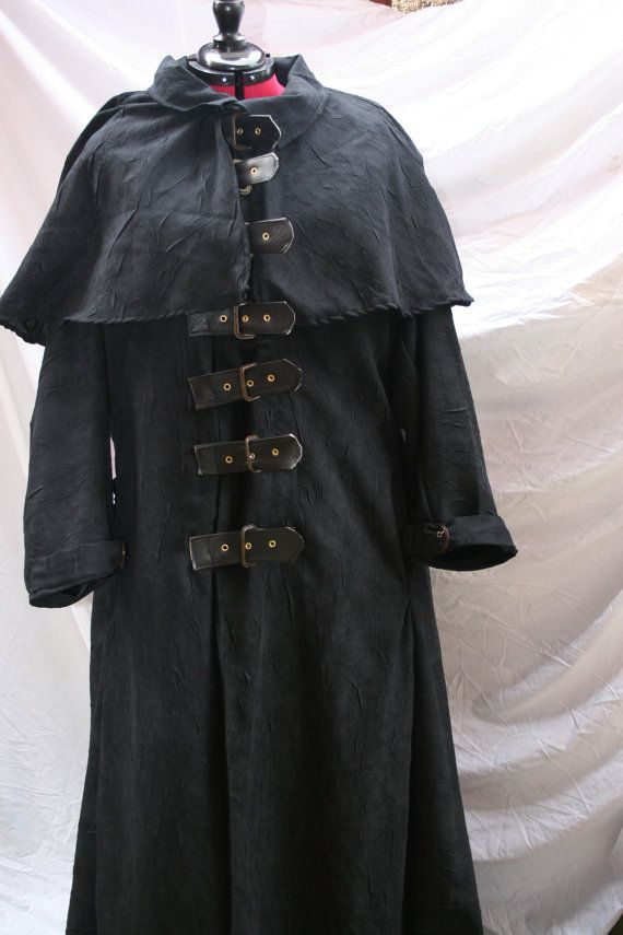 Van Helsing Style Ankle Length Black Coat Made To Measure Plague