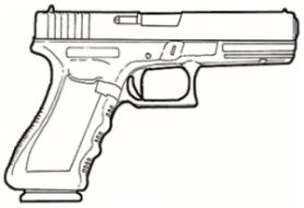 resultado de imagen de dibujo de pistola glock armas pinterest