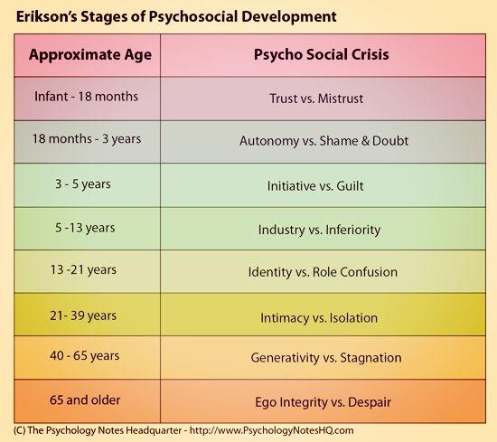 Erik Erikson\u0027s stages of psychosocial development Facilitating