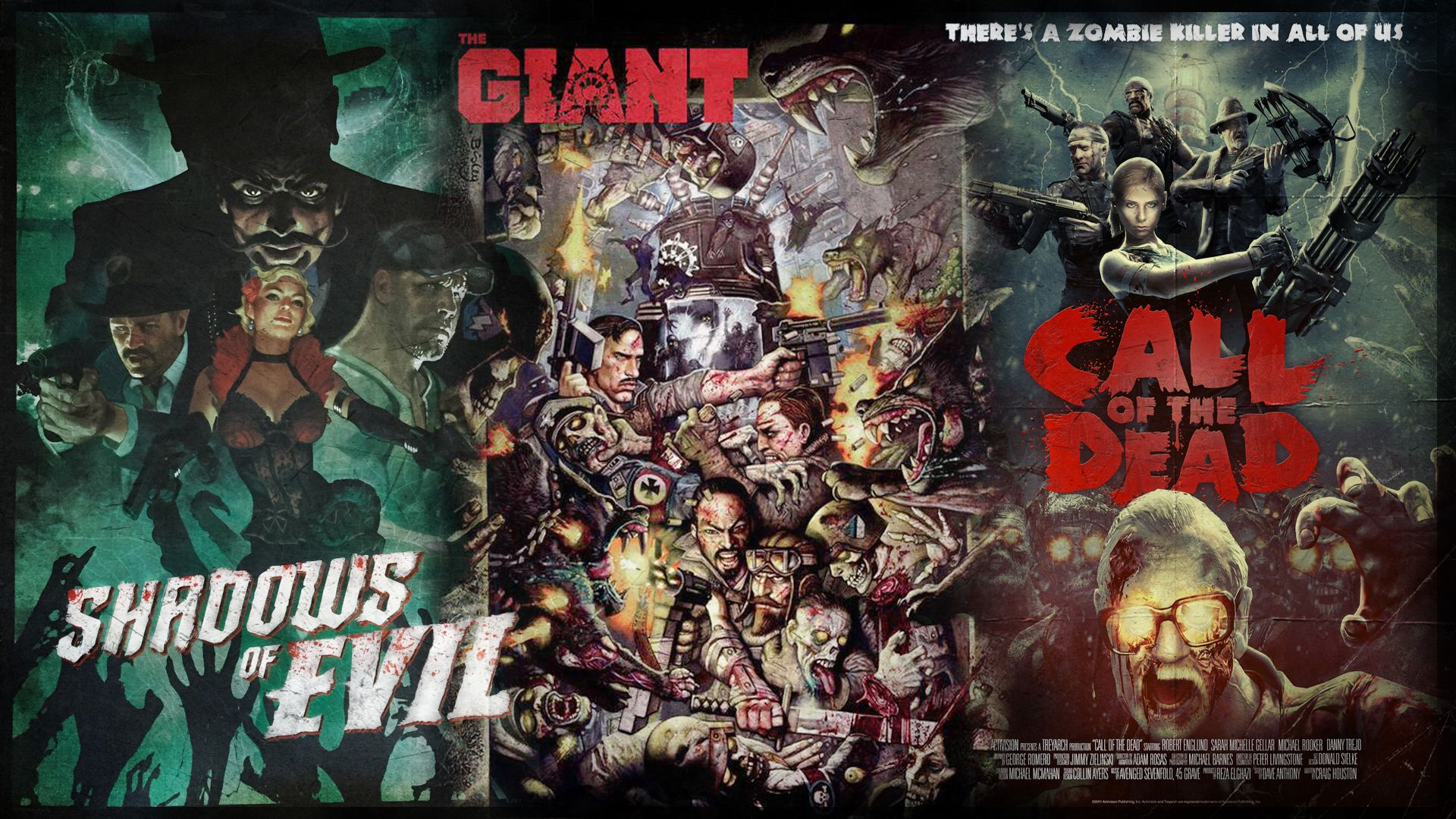 call of duty zombie wallpaper, shadows of evil, the giant, call of