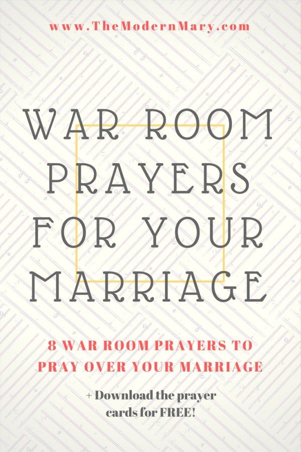 War Room Prayers to Pray Over Your Marriage | The Modern Mary Blog