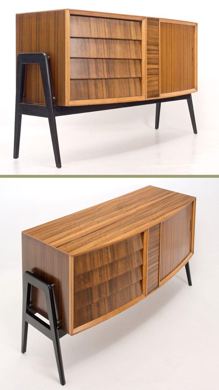 Amapola muebles objetos y papeles pintados de los a os 50 60 y 70 revestimientos papeles - Mueble anos 50 ...