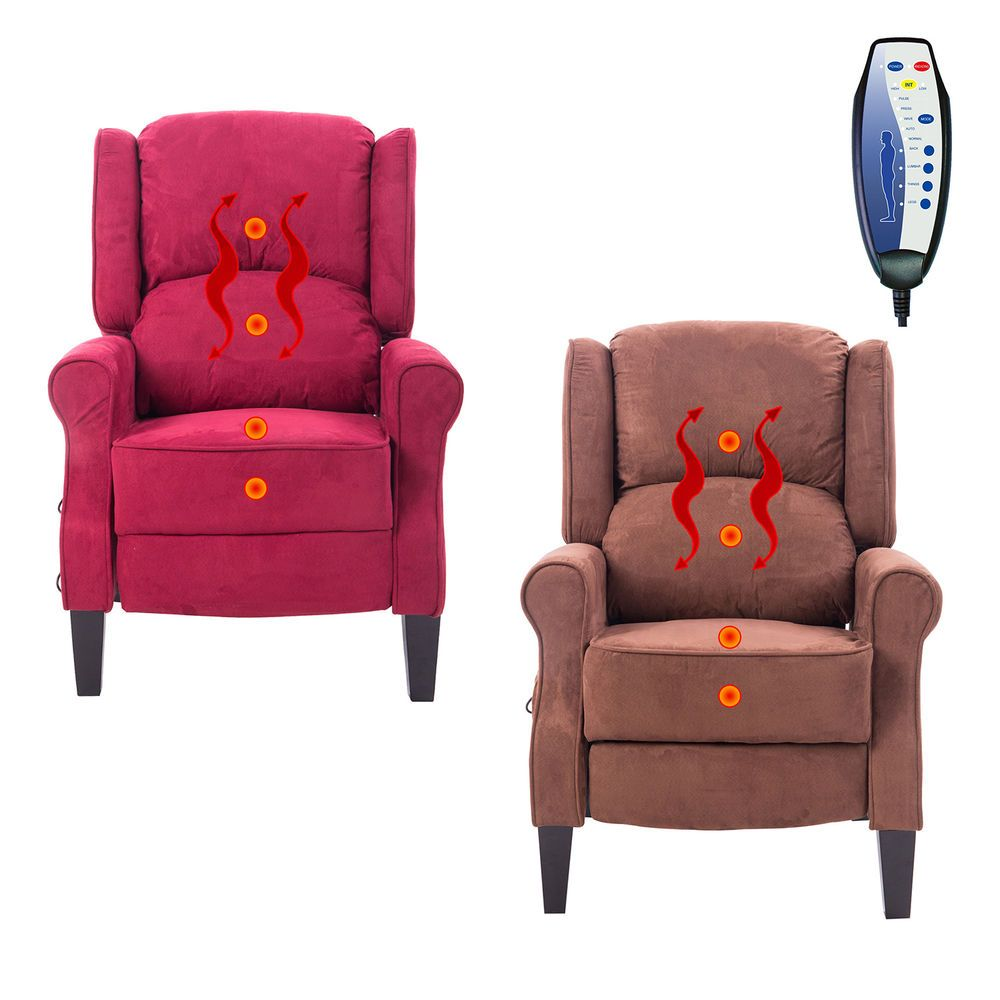 Deluxe Massage Recliner Chair Heated Sofa Ergonomic Lounge Suede W/ Control  New | Health U0026